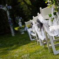 Ceremony, Flowers & Decor, white, black, Outside ceremony