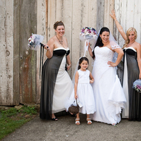 Flowers & Decor, Bridesmaids, Bridesmaids Dresses, Wedding Dresses, Fashion, white, black, dress, Bridesmaid Bouquets, Flowers, Flower Wedding Dresses