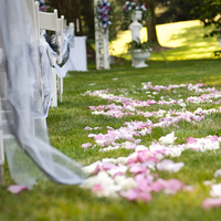 Ceremony, Flowers & Decor, white, pink, purple, Aisle