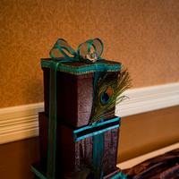 Reception, Flowers & Decor, blue, brown, gold, Box, Card