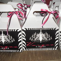 Reception, Flowers & Decor, Favors & Gifts, white, pink, black, silver, Favors