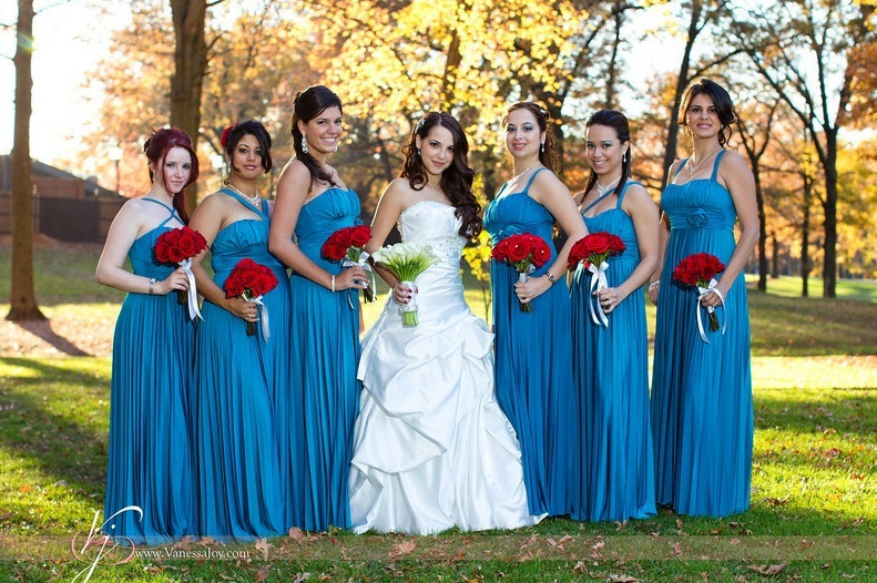 Blue and brown wedding dresses dress blog edin for Brown dresses for a wedding