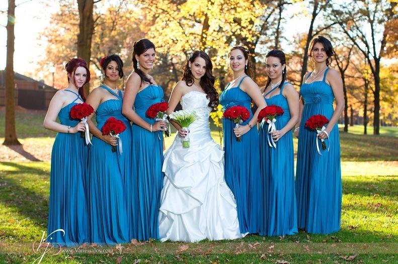 Blue and brown wedding dresses dress blog edin for Brown dresses for a wedding