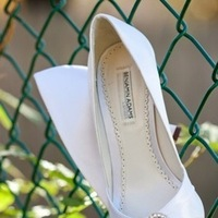 Shoes, Fashion, white, silver