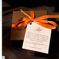 Favors & Gifts, orange, brown, Favors