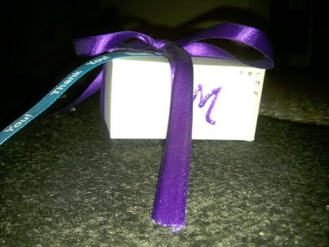 Favors & Gifts, white, purple, blue, Favors, Simple, Boxes, Thankyou