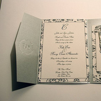Stationery, black, silver, Invitations