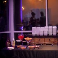 Reception, Flowers & Decor, Favors & Gifts, white, purple, black, Favors, Ice, Cream, Bar, Sundae