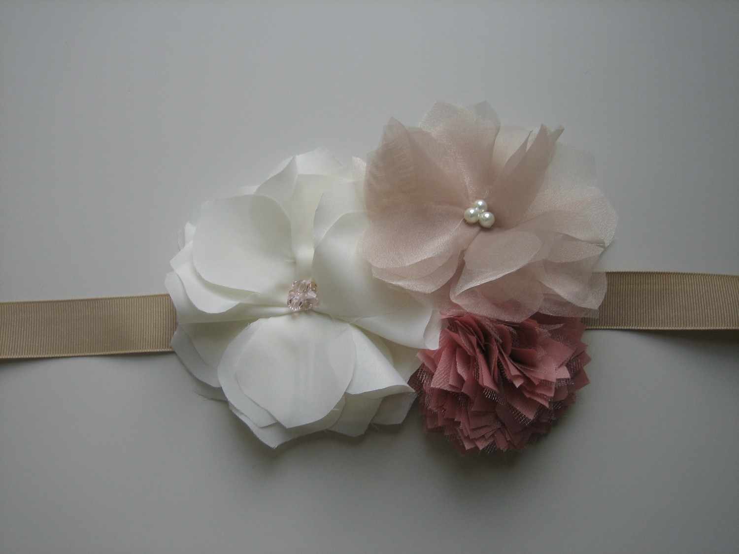 Beauty, Flowers & Decor, Bridesmaids, Bridesmaids Dresses, Wedding Dresses, Fashion, dress, Bride Bouquets, Bridesmaid Bouquets, Bride, Flowers, Flower, Girl, Wedding, Bridesmaid, Hair, Sash, Belt, Fabric, Fascinator, Handmade, Flower Wedding Dresses