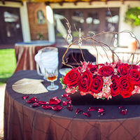 Reception, Flowers & Decor, red, burgundy, Rustic, Outdoor, Rustic Wedding Flowers & Decor, Roses, Romantic, Chocolate, Brunch, Manzanita, Trees, Scrabble, Fiona chris