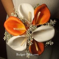Flowers & Decor, white, orange, Flowers