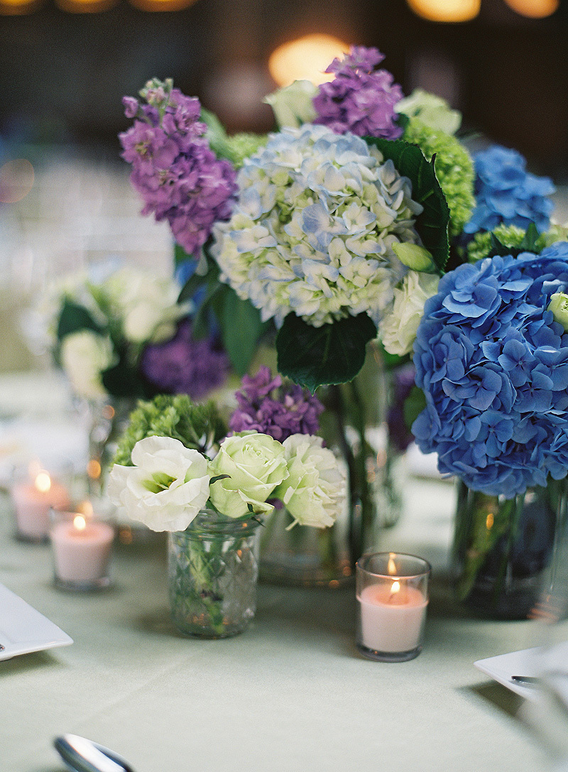 Photography, blue, green, City, Wedding, Cathedral, Hydrangeas, Chicago, Contemporary, Chic, Film, Indoor