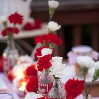 Reception, Flowers & Decor, white, pink, red