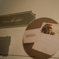Stationery, white, silver, Invitations, Brides, The, Save, Date, Collection