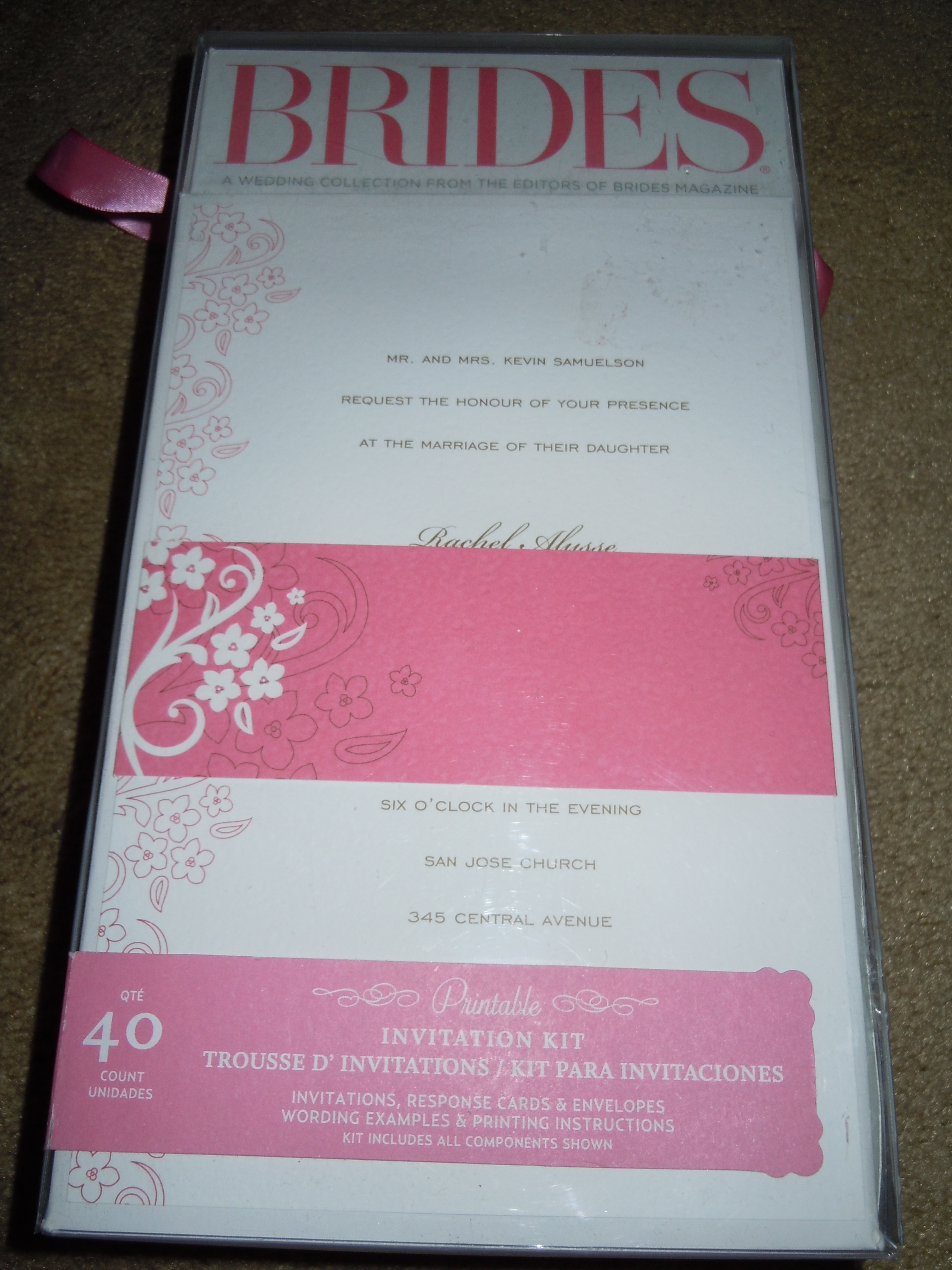 Stationery, white, pink, brown, Invitations, Brides, Floral, Blossom, Cherry, Collection