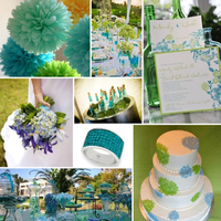 blue, green, Inspiration board