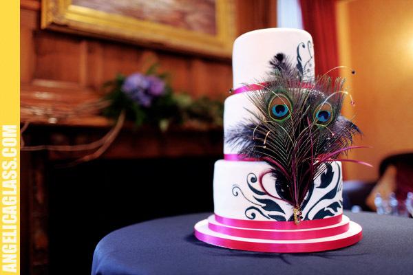 Cakes, pink, blue, cake, Peacock, Fuschia, Claytonandshauna