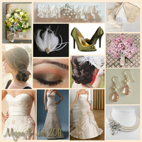 pink, green, Vintage, Lace, Pearls, Inspiration board