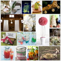 Reception, Flowers & Decor, pink, green, Inspiration board