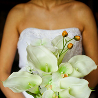 Ceremony, Flowers & Decor, Wedding Dresses, Fashion, white, dress, Ceremony Flowers, Bride Bouquets, Flowers, Bouquet, Calla, Lilies, And, Orchids, Inspiration board, Or, Natural, Touch, Real, Flower Wedding Dresses