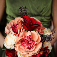 Ceremony, Flowers & Decor, Bridesmaids, Bridesmaids Dresses, Wedding Dresses, Fashion, orange, green, brown, dress, Ceremony Flowers, Bride Bouquets, Bridesmaid Bouquets, Fall, Flowers, Fall Wedding Flowers & Decor, Roses, Bouquet, Colors, Peonies, Inspiration board, Hydrangeas, Ranunculuses, Flower Wedding Dresses, Fall Wedding Dresses