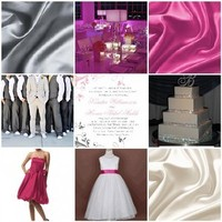white, pink, silver, Inspiration board