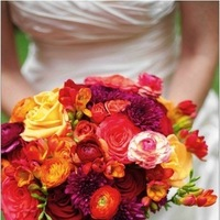 Flowers & Decor, orange, red, purple, Bride Bouquets, Flowers, Bouquet, Wedding