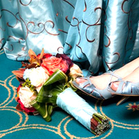Flowers & Decor, Shoes, Fashion, orange, blue, Flowers, Flower Wedding Dresses
