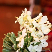 Ceremony, Flowers & Decor, white, Ceremony Flowers, Flowers, Orchid, Pew, Marker