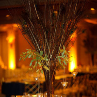 Reception, Flowers & Decor, blue, gold, Centerpieces