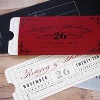 Stationery, white, red, black, Invitations
