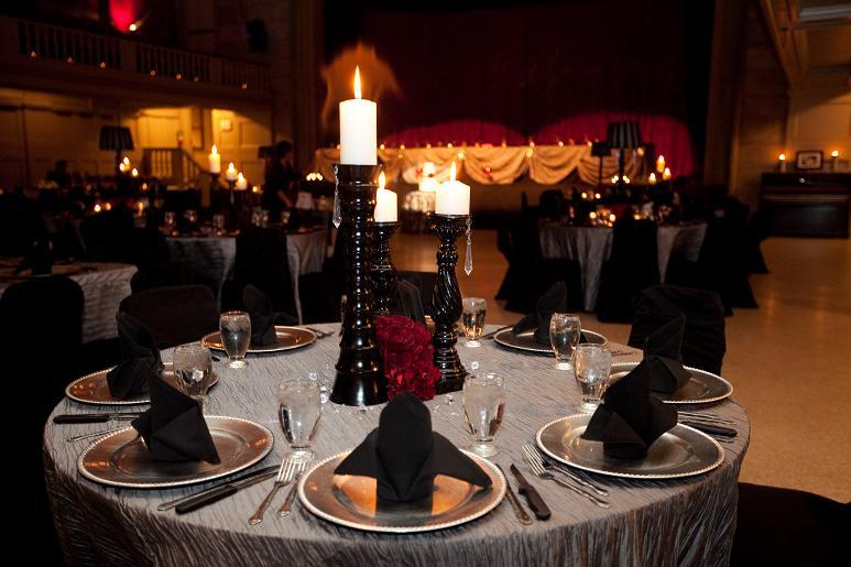 Reception, Flowers & Decor, red, black, silver, Candles, Roses, Linen