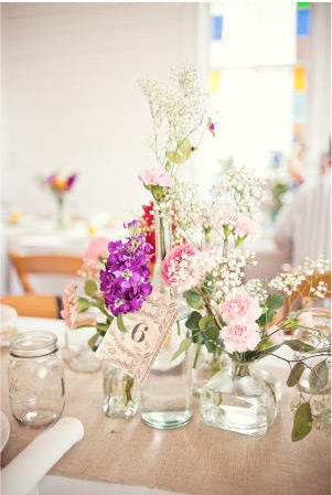 Reception, Flowers & Decor, Table, Burlap