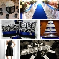 white, blue, black, Inspiration board