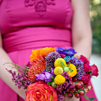 Ceremony, Reception, Flowers & Decor, orange, pink, red, purple, blue, green, Ceremony Flowers, Flowers, Inspiration board