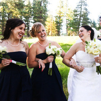 Beauty, Flowers & Decor, Jewelry, Bridesmaids, Bridesmaids Dresses, Wedding Dresses, Fashion, white, blue, dress, Bridesmaid Bouquets, Flowers, Hair, Pearls, Outdoors, Lake, Tahoe, Navy, Preppy, Flower Wedding Dresses, Nautical/Preppy Wedding Dresses