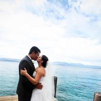 Wedding Dresses, Fashion, white, gray, dress, Lake, Tahoe, Preppy, dock, Nautical/Preppy Wedding Dresses