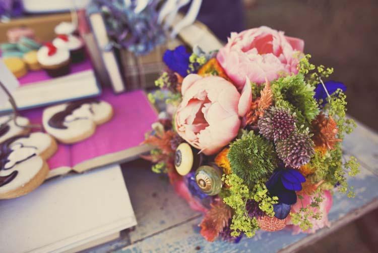 Reception, Flowers & Decor, yellow, orange, pink, purple, blue, green, brown, Flowers, Inspiration board