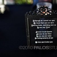 Reception, Flowers & Decor, white, black, Table, In, Loving, Inspiration board, Frame, Memory