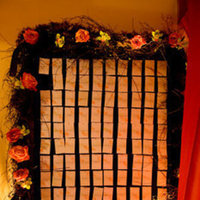Reception, Flowers & Decor, orange, pink, red, purple, green, brown, Flowers, Cards, Table, Numbers, Place, Inspiration board