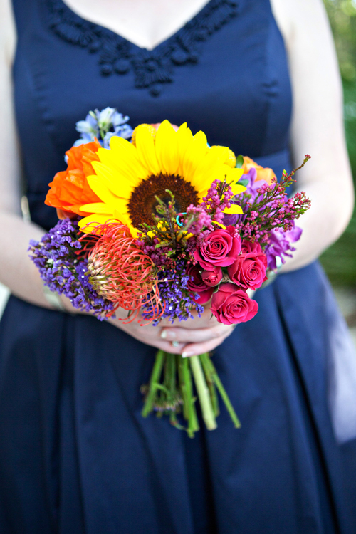 Ceremony, Reception, Flowers & Decor, orange, pink, red, purple, blue, green, gold, Ceremony Flowers, Flowers, Inspiration board