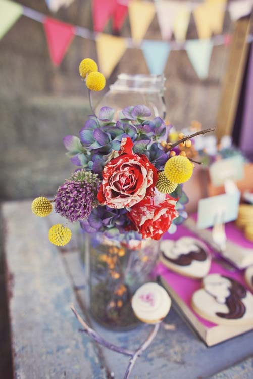 Reception, Flowers & Decor, yellow, orange, pink, red, purple, blue, green, Flowers, Inspiration board