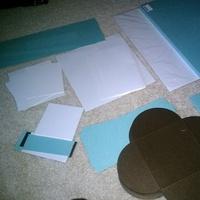 DIY, blue, brown