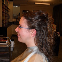 Beauty, Veils, Fashion, Curly Hair, Long Hair, Veil, Hair, Long, Up, Half, Curly, Bun, Claytonandshauna