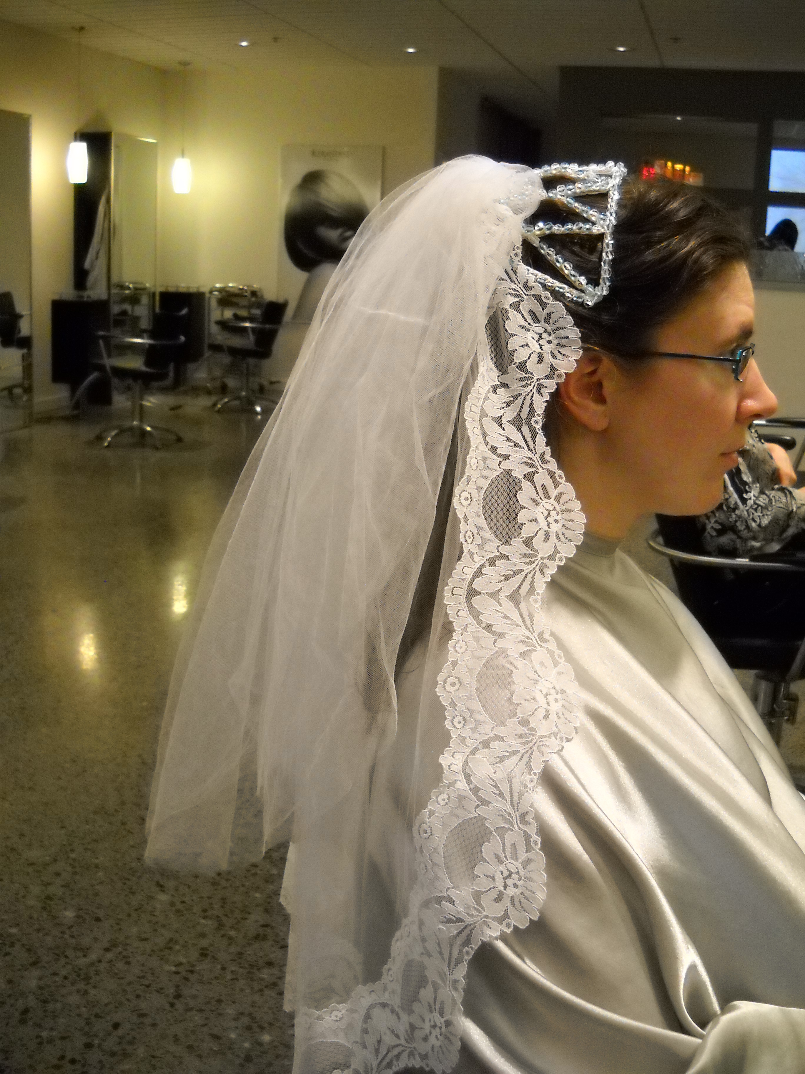 Beauty, Veils, Fashion, Curly Hair, Long Hair, Veil, Hair, Long, Up, Half, Curly, Bun, Claytonandshauna