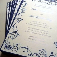 Stationery, white, silver, Invitations