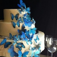 Cakes, blue, cake, Butterflies