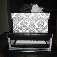 white, black, silver, Box, Card