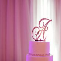 Cakes, cake, Monogrammed Wedding Cakes, Monogram, Topper, A, Bling, Letter