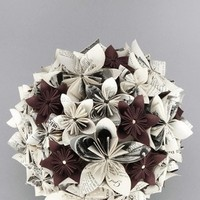 Flowers & Decor, Paper, white, brown, black, Bride Bouquets, Flowers, Flower, Bouquet, Wedding, German, Crepe